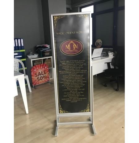500X1400MM SÜRGÜLÜ AFİŞ STANDI TAM