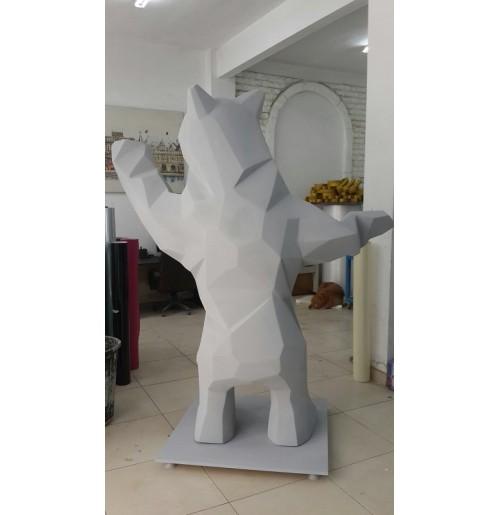 Strafor Köpük 3D - Beyaz Ayı Heykeli -08